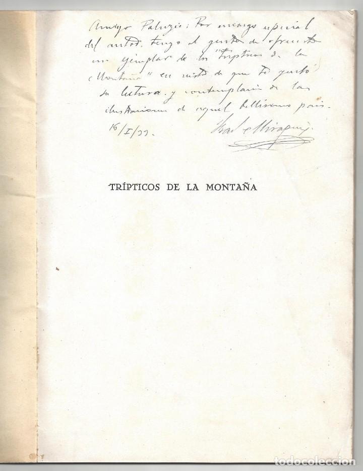 Libros antiguos: TRÍPTICOS DE LA MONTAÑA. FRANCISCO CUBRÍA SAINZ. SANTANDER. 1932- DEDICADO - Foto 3 - 183765848