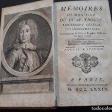 Libros antiguos: MEMOIRES DE MONSIEUR DU GUAY TROUIN ARMÉES NAVALES 1774 RÍO DE JANEIRO. BARCOS, MAPAS, GRABADOS, ETC. Lote 183964098