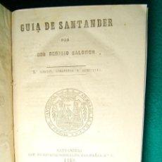Libros antiguos: GUIA DE SANTANDER-REMIGIO SALOMON-CANTABRIA-TURISMO-VIAJES-1861-2ª EDICION CORREGIDA AUMENTADA. . Lote 184461502