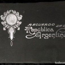 Libros antiguos: ALBUM RECUERDO DE LA REPÚBLICA ARGENTINA - 112 FOTOGRABADOS - COLECCIONISTAS - FOTOGRAFÍA. Lote 184633138