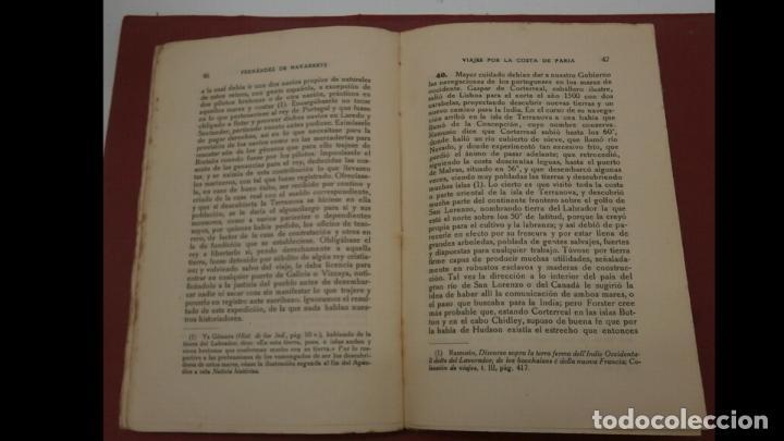 Libros antiguos: Viajes por la costa de Paria. M. F. de Navarrete - Foto 2 - 184637865