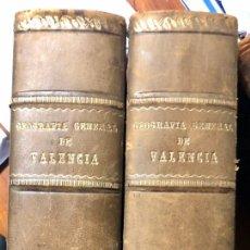 Libros antiguos: ANTIGUO GEOGRAFÍA ALICANTE Y CASTELLÓN, 2 TOMOS. Lote 187198156