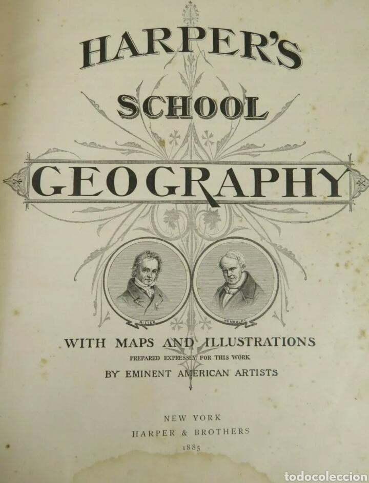 Libros antiguos: Libro muy antiguo de geografía con mapas año 1885 en inglés rareza RARO - Foto 5 - 189185765