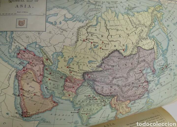 Libros antiguos: Libro muy antiguo de geografía con mapas año 1885 en inglés rareza RARO - Foto 6 - 189185765