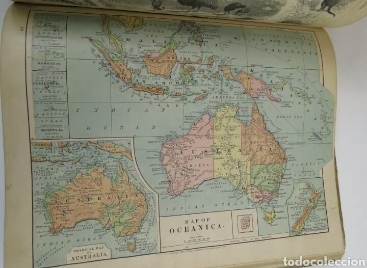 Libros antiguos: Libro muy antiguo de geografía con mapas año 1885 en inglés rareza RARO - Foto 8 - 189185765