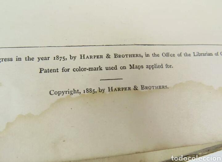 Libros antiguos: Libro muy antiguo de geografía con mapas año 1885 en inglés rareza RARO - Foto 9 - 189185765