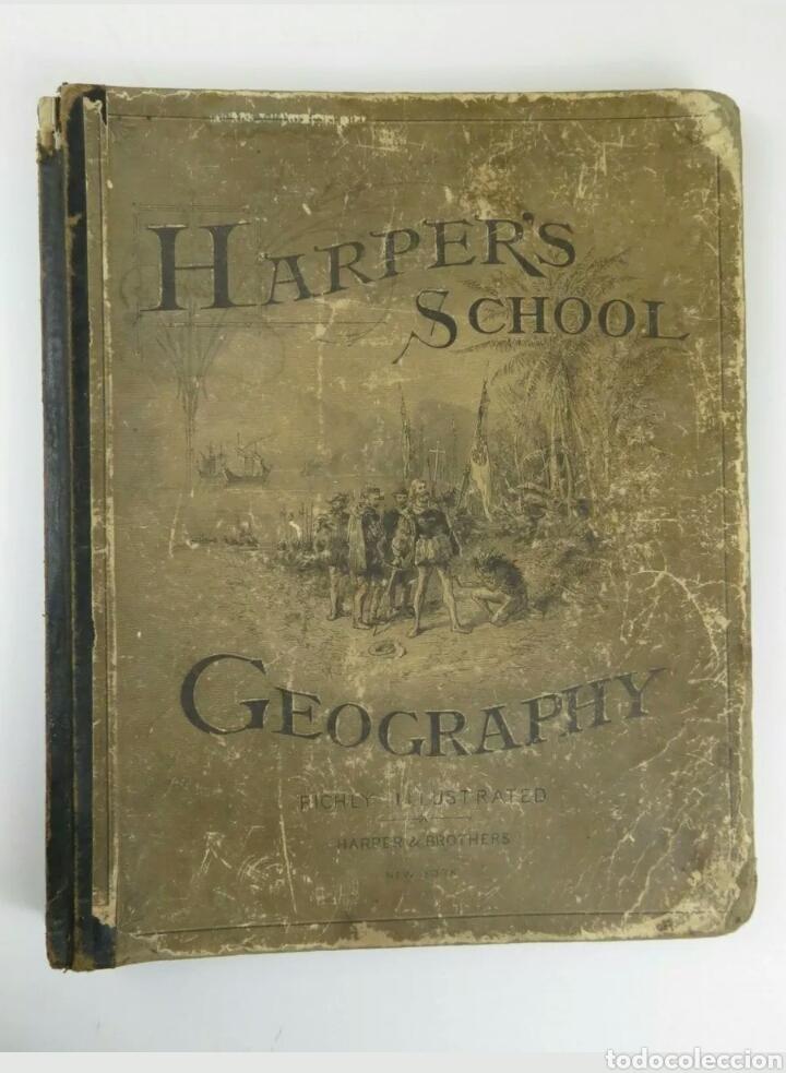 LIBRO MUY ANTIGUO DE GEOGRAFÍA CON MAPAS AÑO 1885 EN INGLÉS RAREZA RARO (Libros Antiguos, Raros y Curiosos - Geografía y Viajes)