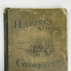 Libros antiguos: LIBRO MUY ANTIGUO DE GEOGRAFÍA CON MAPAS AÑO 1885 EN INGLÉS RAREZA RARO. Lote 189185765