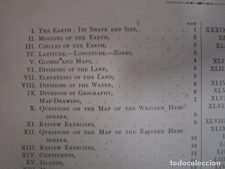 Libros antiguos: Libro muy antiguo de geografía con mapas año 1885 en inglés rareza RARO - Foto 11 - 189185765