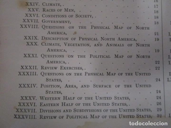 Libros antiguos: Libro muy antiguo de geografía con mapas año 1885 en inglés rareza RARO - Foto 15 - 189185765
