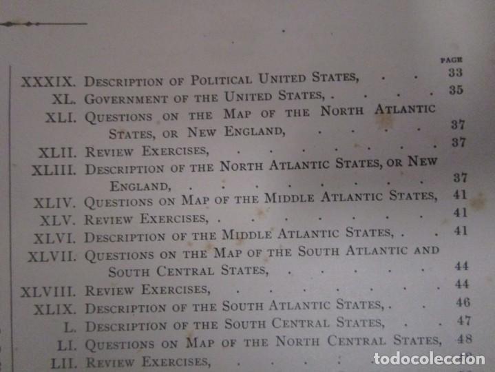 Libros antiguos: Libro muy antiguo de geografía con mapas año 1885 en inglés rareza RARO - Foto 17 - 189185765