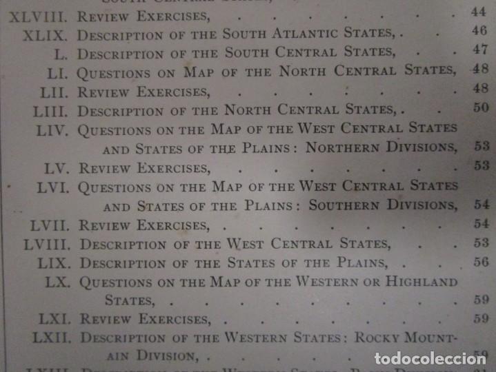 Libros antiguos: Libro muy antiguo de geografía con mapas año 1885 en inglés rareza RARO - Foto 19 - 189185765