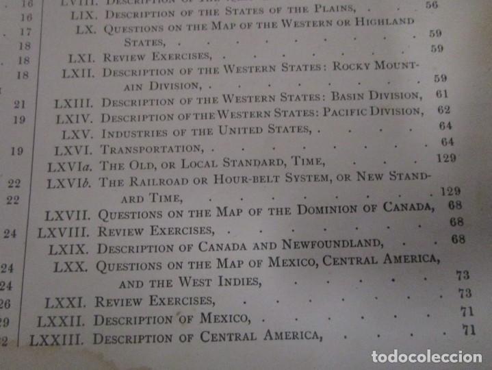 Libros antiguos: Libro muy antiguo de geografía con mapas año 1885 en inglés rareza RARO - Foto 21 - 189185765