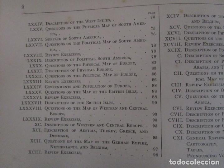 Libros antiguos: Libro muy antiguo de geografía con mapas año 1885 en inglés rareza RARO - Foto 23 - 189185765