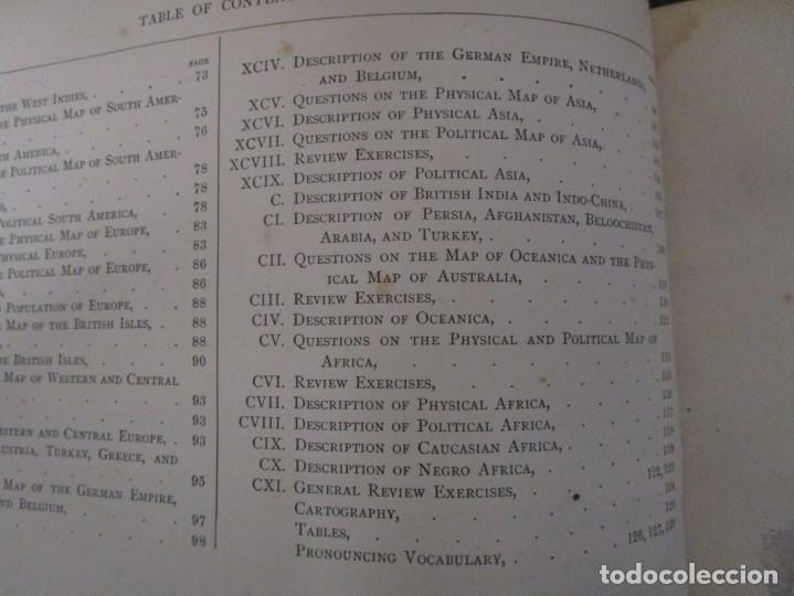 Libros antiguos: Libro muy antiguo de geografía con mapas año 1885 en inglés rareza RARO - Foto 25 - 189185765