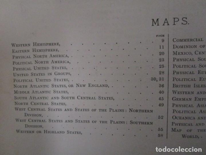 Libros antiguos: Libro muy antiguo de geografía con mapas año 1885 en inglés rareza RARO - Foto 27 - 189185765