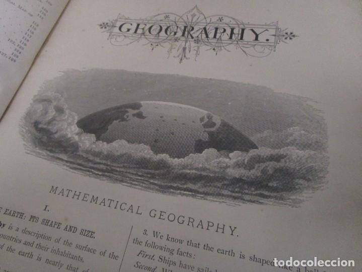 Libros antiguos: Libro muy antiguo de geografía con mapas año 1885 en inglés rareza RARO - Foto 16 - 189185765