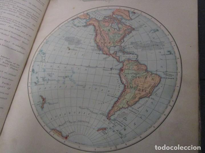 Libros antiguos: Libro muy antiguo de geografía con mapas año 1885 en inglés rareza RARO - Foto 10 - 189185765