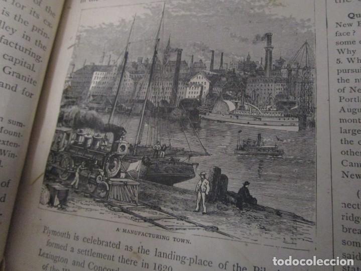 Libros antiguos: Libro muy antiguo de geografía con mapas año 1885 en inglés rareza RARO - Foto 20 - 189185765