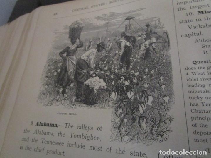 Libros antiguos: Libro muy antiguo de geografía con mapas año 1885 en inglés rareza RARO - Foto 24 - 189185765