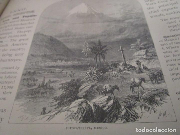 Libros antiguos: Libro muy antiguo de geografía con mapas año 1885 en inglés rareza RARO - Foto 26 - 189185765