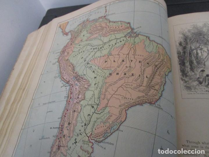 Libros antiguos: Libro muy antiguo de geografía con mapas año 1885 en inglés rareza RARO - Foto 32 - 189185765