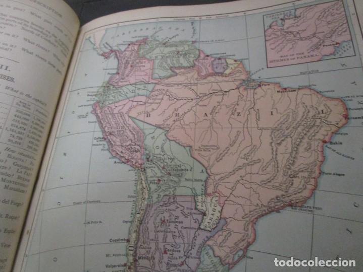 Libros antiguos: Libro muy antiguo de geografía con mapas año 1885 en inglés rareza RARO - Foto 28 - 189185765