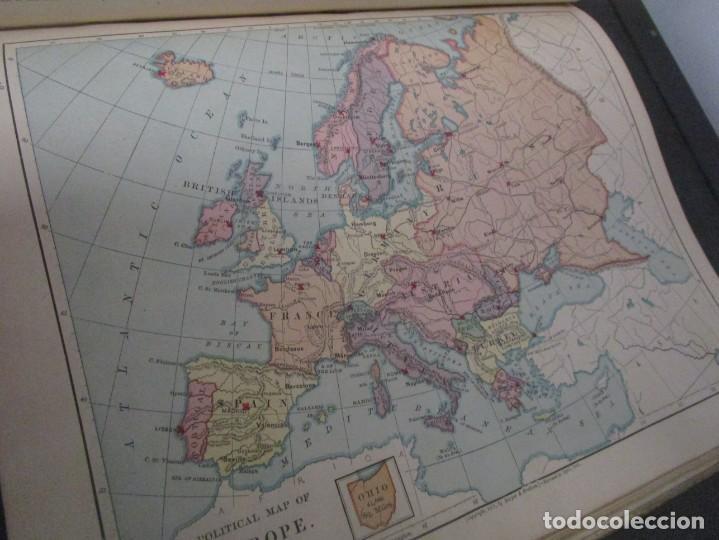 Libros antiguos: Libro muy antiguo de geografía con mapas año 1885 en inglés rareza RARO - Foto 35 - 189185765