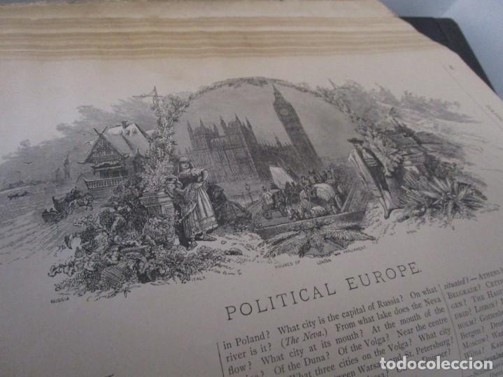 Libros antiguos: Libro muy antiguo de geografía con mapas año 1885 en inglés rareza RARO - Foto 34 - 189185765
