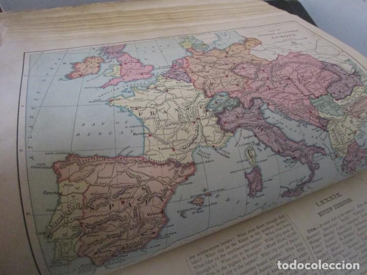 Libros antiguos: Libro muy antiguo de geografía con mapas año 1885 en inglés rareza RARO - Foto 41 - 189185765