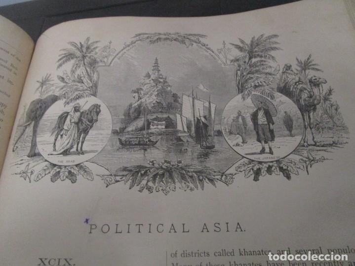 Libros antiguos: Libro muy antiguo de geografía con mapas año 1885 en inglés rareza RARO - Foto 39 - 189185765