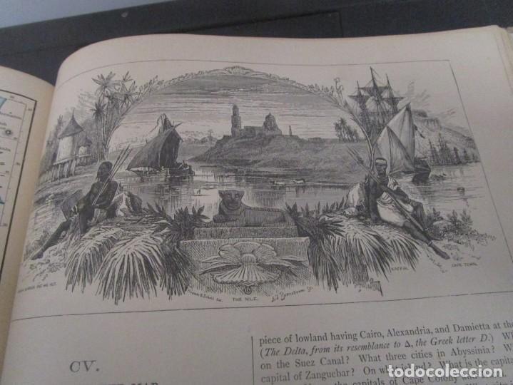 Libros antiguos: Libro muy antiguo de geografía con mapas año 1885 en inglés rareza RARO - Foto 42 - 189185765