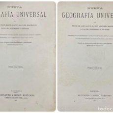Libros antiguos: NUEVA GEOGRAFIA UNIVERSAL. MONTANER Y SIMON. TOMOS II Y III. BARCELONA, 1881. LEER. Lote 189248467