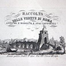 Libros antiguos: LIBRO CON 79 GRABADOS DE ROMA. RACCOLTA DELLE VEDUTE DI ROMA. ANTICHE E MODERNE E SUOI CONTORNI SXIX. Lote 55105724