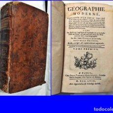 Libros antiguos: AÑO 1758. LIBRO DE GEOGRAFÍA DEL SIGLO XVIII. CON REFERENCIAS A CIUDADES Y PUEBLOS DE ESPAÑA. VER.. Lote 190804816