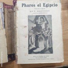 Libros antiguos: PHAROS EL EGIPCIO EL DIAMANTE DE LA LUNA POR QUE LO MATARON HERMOSA CORSARIA GIGANTE LIBRO. Lote 191198481