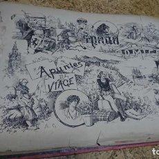 Libros antiguos: ÁLBUM ESPAÑA CÓMICA, APUNTES DE VIAGE, 1887, GRAN TAMAÑO 52 X 32 CM. Lote 192929208