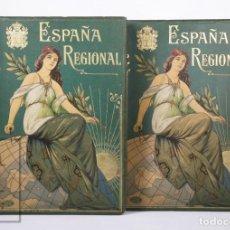 Libros antiguos: PAREJA DE LIBROS ESPAÑA REGIONAL, C. ROCAFORT / C. DALMAU. TOMOS I Y II - ED. ALBERTO MARÍN, AÑOS 20. Lote 193241006