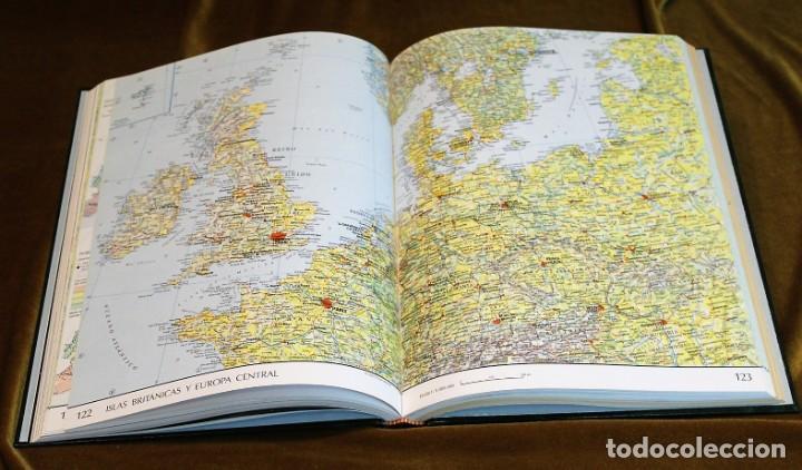 Libros antiguos: Atlas el País Aguilar, 1991, 25 x 34 x 3 cm, encuadernación símil piel - Foto 4 - 193369235