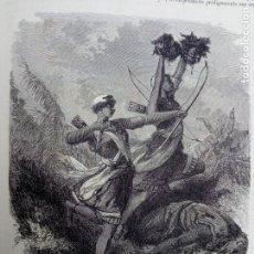 Libros antiguos: LOTE TOMOS I, II, V, - LA VUELTA AL MUNDO - EDT GASPAR Y ROIG 1865 - ILUSTRADO CON GRABADOS- VIAJES. Lote 194006413
