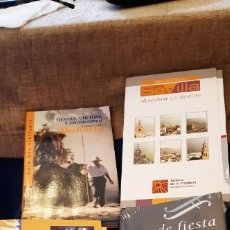 Libros antiguos: LOTE GUIAS PATRIMONIO DOÑANA FIESTA PUEBLOS HUELVA SEVILLA DESCUBRIR DESTINO RUTA BÉTICA ROMANA. Lote 194204103
