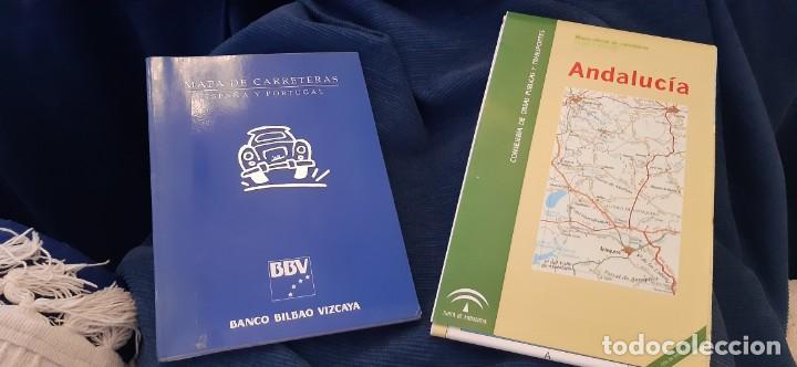 LOTE MAPA CARRETERAS ESPAÑA Y PORTUGAL BBV Y ANDALUCÍA (Libros Antiguos, Raros y Curiosos - Geografía y Viajes)