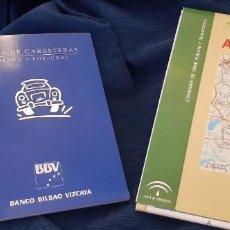 Libros antiguos: LOTE MAPA CARRETERAS ESPAÑA Y PORTUGAL BBV Y ANDALUCÍA . Lote 194204911