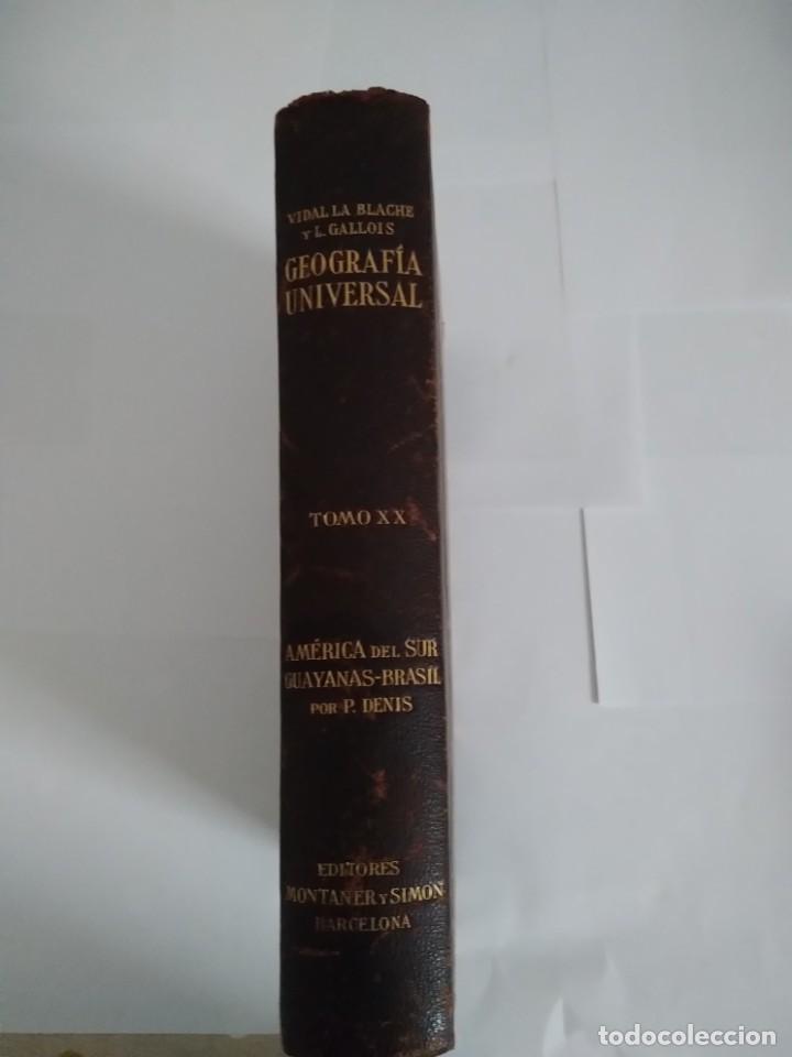 GEOGRAFIA UNIVERSAL TOMO XX P VIDAL Y L GALLOIS (Libros Antiguos, Raros y Curiosos - Geografía y Viajes)