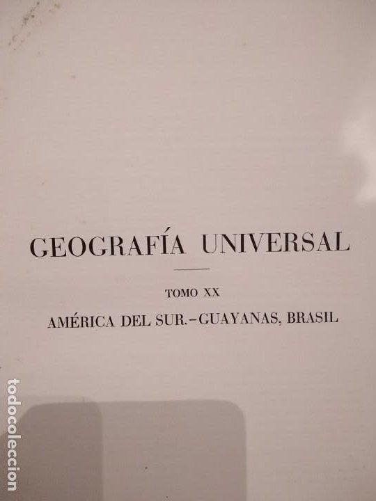 Libros antiguos: Geografia Universal TOmo XX P Vidal y L Gallois - Foto 3 - 194206146