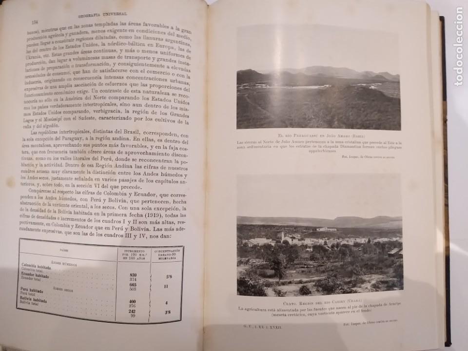 Libros antiguos: Geografia Universal TOmo XX P Vidal y L Gallois - Foto 4 - 194206146