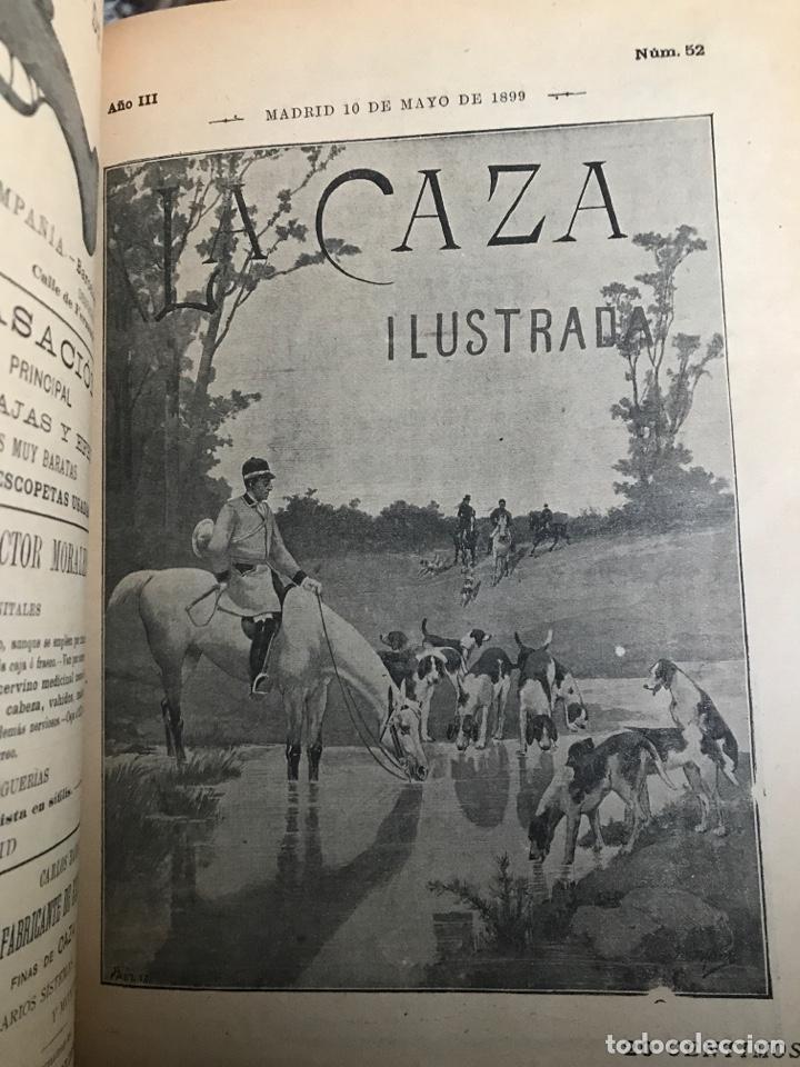 Libros antiguos: La Caza ilustrada revista decenal de caza y pesca fundador y director Juan María de conde - Foto 3 - 194215892