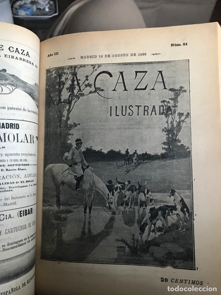 Libros antiguos: La Caza ilustrada revista decenal de caza y pesca fundador y director Juan María de conde - Foto 4 - 194215892