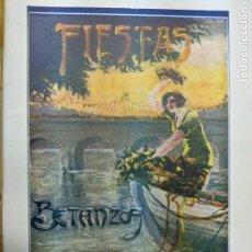Libros antiguos: 1929 FIESTAS DE BETANZOS LA CORUÑA GALICIA - PROGRAMA - TALLERES GRAFICOS MANUEL VILLANUEVA. Lote 194393130