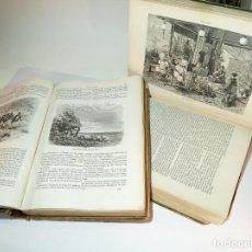 Libros antiguos: EL MUNDO EN LA MANO. VIAJE PINTORESCO A LAS CINCO PARTES DEL MUNDO. 2 TOM. 1878. CIENTOS DE GRABADOS. Lote 194492218